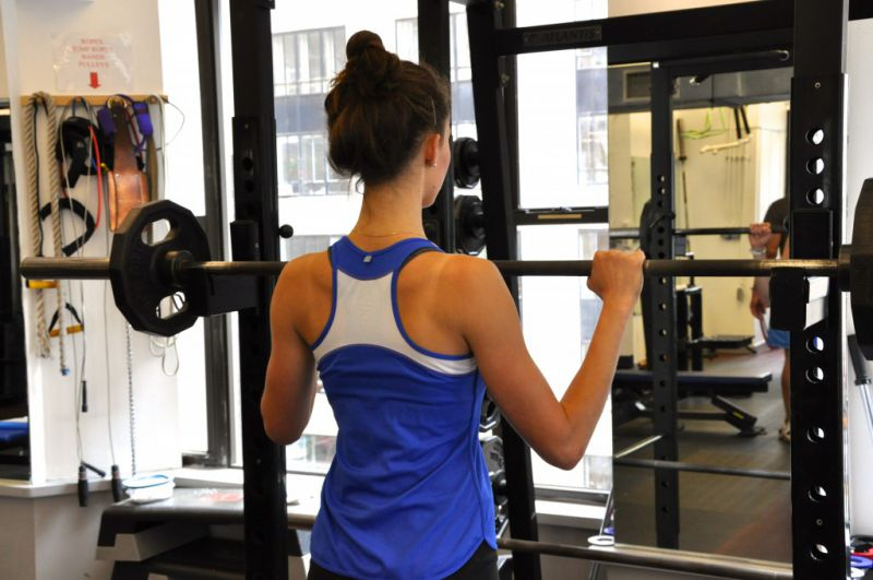 Racking the barbell for Back Squats - take an even grip.