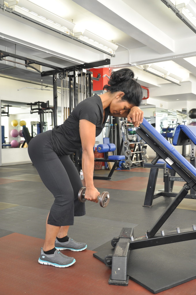 1-Arm-45-Degree-Incline-DB-Trap-3-Lift-step-1-running-strength-training-New-York-City-personal-training